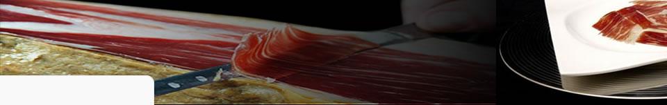 Corsi di taglio di prosciutto pata negra a coltello